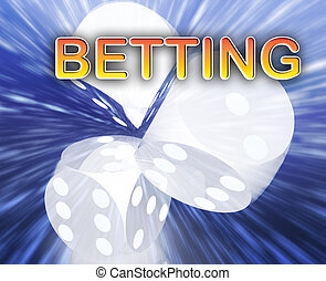 Gambling dice betting background