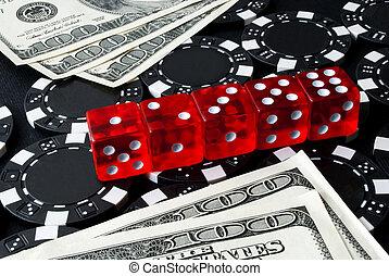 Gambling dice for Casinò games