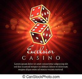 Gambling dice poster