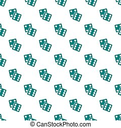 Gambling Dices Seamless Pattern on White Background Icon Vector Illustration