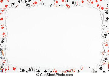 gambling frame made from poker cards