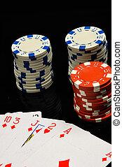 Gambling game in dark concept