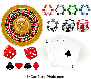 Gambling Goodies - Playing cards, Roulette Wheel and...