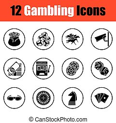 Gambling icon set