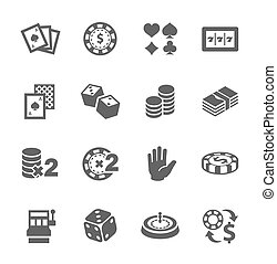 Gambling icons - Simple set of gambling related vector icons...