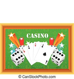 gambling illustration with casino e