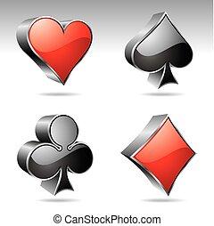 gambling illustration with casino elements