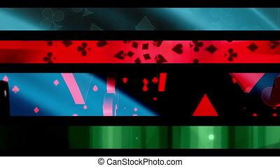 Gambling Looping Lower Thirds R2287 - Four Gambling Themed...