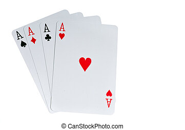 Gambling poker - Four aces cards to win poker game