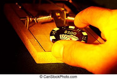 Gambling Risk - Gambling Concept.
