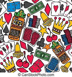 Gambling Seamless pattern / Casino background