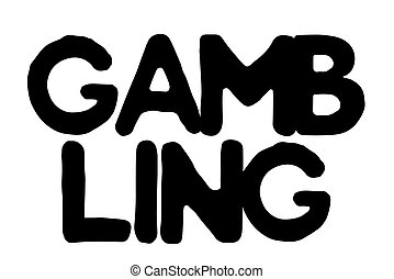 Gambling stamp typographic stamp - Gambling stamp....