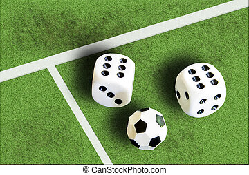 Gambling with dice and football win money