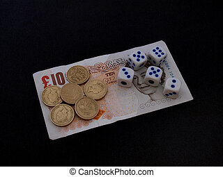Gambling with dice.