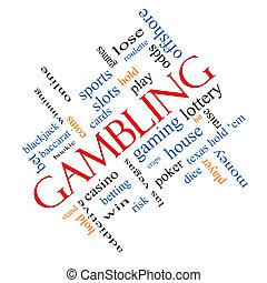 Gambling Word Cloud Concept Angled - Gambling Word Cloud...