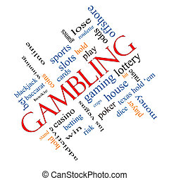 Gambling Word Cloud Concept Angled - Gambling Word Cloud...