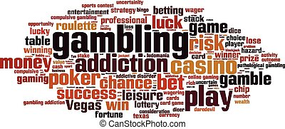 Gambling word cloud concept. Vector illustration