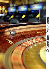 gambling world - the world spinning in a roulette wheel