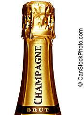 gambo, di, uno, bottiglia champagne