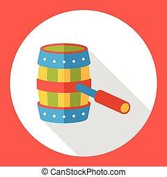 game Barrel flat icon