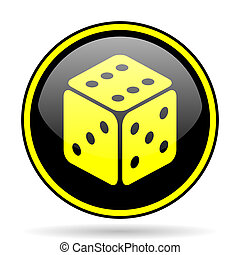 game black and yellow glossy internet icon