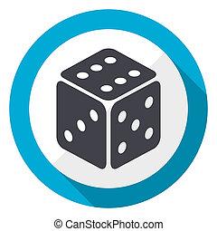 Game blue flat design web icon