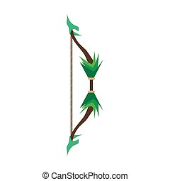 Game bow arrow vector target archery weapon icon illustration medieval symbol concept