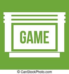 Game cartridge icon green