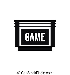 Game cartridge icon, simple style - Game cartridge icon in...