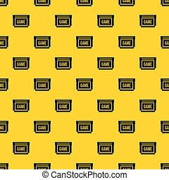 Game cartridge pattern vector