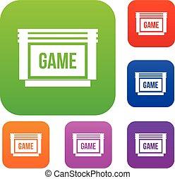 Game cartridge set collection