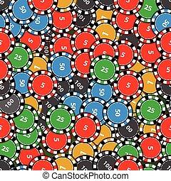 game., casinò scheggia, seamless, pattern.