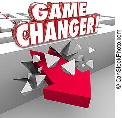 Game Changer Arrow Breaks Through Maze Wall Winning Strategy Pla