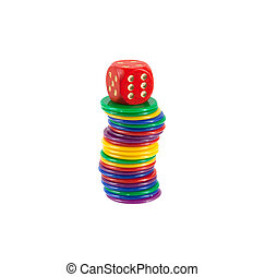 Game chips isolated