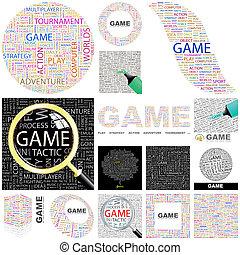 Game. Concept illustration.