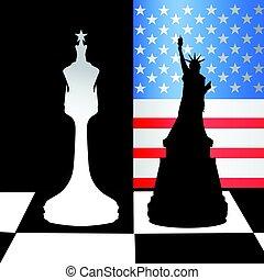 game., concept, politiek, verenigd