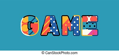 Game Concept Word Art Illustration