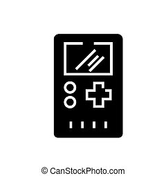 game console-17 icon, vector illustration, black sign on isolated background