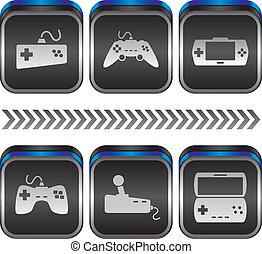 game console theme vector graphic art design illustration