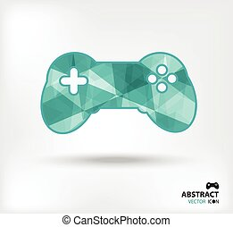 game controller abstract vector icon geometric polygon
