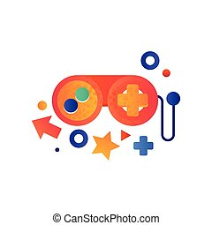 Game controller, gaming concept vector Illustration on a white background
