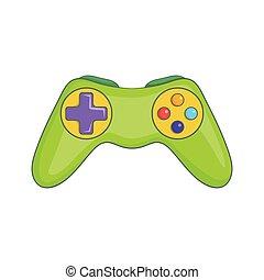 Game controller icon, cartoon style