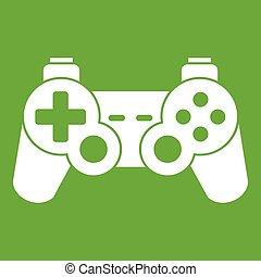 Game controller icon green