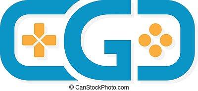 Game controller logo template. - Vector logo or icon design...