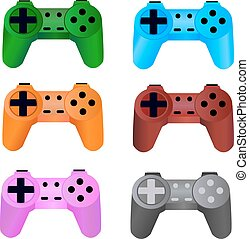 game controller on a white background. Vector.