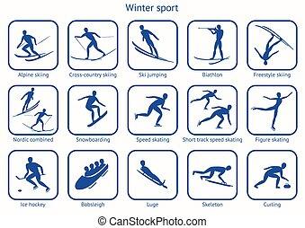 game., desporto, inverno