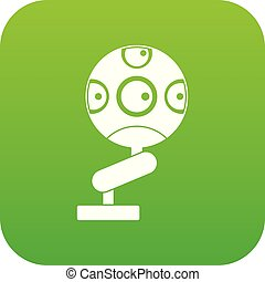 Game device icon digital green