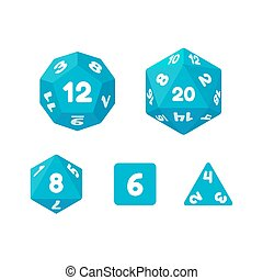 Game dice set - Set of dice for fantasy RPG tabletop games....