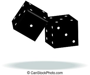 Game dices vector illustration isolated on white background