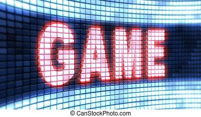 """game"", ekran, słowo"